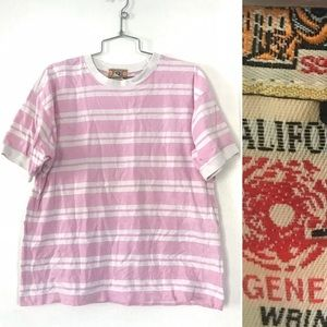 Vintage 1980's Bis Bis pink striped T-shirt top
